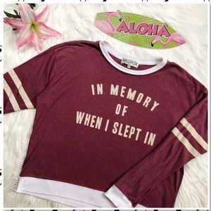 Wildfox In Memory of When I Slept In Sweatshirt XS